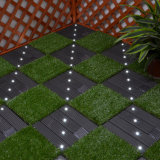 Azulejos de suelo laminados solares interactivos impermeables de la cubierta de la luz WPC del LED