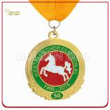 Qualitäts-Gold überzogenes Metallsport-Medaillon mit gedruckter Abzuglinie