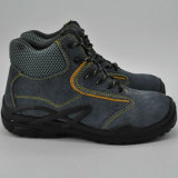 La seguridad de acero de la punta del cuero del ante Ufa029 anuda los zapatos de seguridad de Metalfree