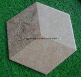 Azulejo esmaltado caramelo sano del hexágono de 200*230m m (comparado con el azulejo esmaltado normal)
