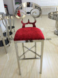 Vector posterior y silla del taburete de barra del asiento de la PU de la flor usados