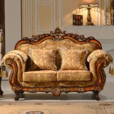 Madera chaise salón con sofá-Presidente para el hogar de muebles