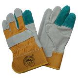 Gants de travail de cuir fendu de vache/gants protecteurs/gants résistants coupés