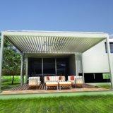 Pérgola de aluminio con la cortina impermeable de Sun de la azotea Louvered