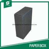Rectángulo de papel acanalado negro de envío de Matt con Stampping caliente de plata