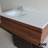 Lavabo sur pied extérieur solide de Corian de meubles de salle de bains