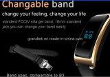 Bluetooth 4.0の防水スポーツのブレスレットのアンドロイドのためのスマートな腕時計の心拍数及びスリープモニタの歩数計