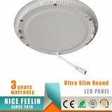 Luz del panel ultra delgada redonda de techo de 18W LED