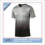 T-shirt rapide de polyester de Wicking d'humidité de dri d'hommes avec le collet rond