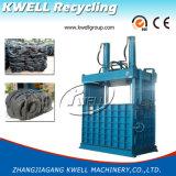 타이어 짐짝으로 만들 기계 또는 수직 사용된 차 타이어 포장기