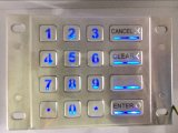[ستينلسّ ستيل] [بكليت] لوحة أرقام 16 مفاتيح