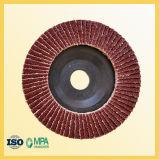 플라스틱 역행을%s 가진 100mm 알루미늄 산화물 플랩 바퀴