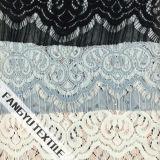 多彩な幾何学的設計の綿のナイロンレースファブリック