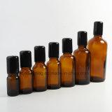 rodillo de cristal ambarino 15ml en la botella para el petróleo esencial