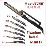 X Style Clamp Função de temporização Titanium LCD Hair Curling Iron
