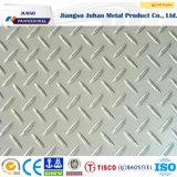 304 plaque en acier décorative Checkered gravée en relief 316 par couleurs