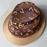 Cotone 100%/cappello poliestere/della tela, stile della fedora di modo con i Sequins o decorazione della zona per i bambini