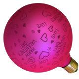 Bulbo rosado de G125 Edsion LED para la datación Wedding la decoración del día de fiesta del día de tarjeta del día de San Valentín