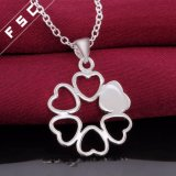 De hete Verkopende Zilveren Geplateerde Romantische Halsband van de Tegenhanger van het Hart