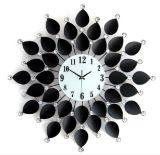 De in het groot Klok van de Muur van het Metaal van de Decoratie van Bladeren Elektrische voor Uw Huis