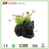 Flowerpot черного медведя сада Polyresin декоративный для украшения лужайки