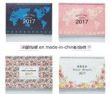 2018印刷できるブランク月例卓上カレンダーを個人化した