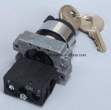 De Schakelaar van de Drukknop van het Type van Metaal van het veiligheidsslot met Sleutel