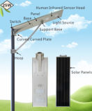 Ce&RoHS im Freien Solarbeleuchtung 25W integrierte alle in einem Solargarten-Licht