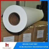 45 / 50gsm jet d'encre de transfert de chaleur à haute vitesse Sublimation Papier Transfert d'impression laizes