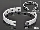 Bracelet en céramique magnétique noir et blanc pour la mode avec Ce