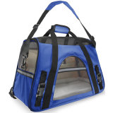 Companhia aérea Aprovado Pet Carriers W / velo Cama de Dog & Cat Indoor / Outdoor Pet Home Deluxe Pet Carrier