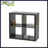 Estante de madera funcional blanco/del negro de 3 capas