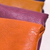 Synthetisches PU-Kurbelgehäuse-Belüftung kundenspezifisches Leder für Möbel