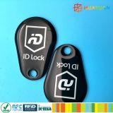 PVC FM08 Keytag époxy d'IDENTIFICATION RF du management ISO14443A d'adhésion de supermarché