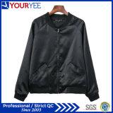 Fashion Stand Collar Baseball Satin Womens Bomber Jacket (YBJ114)