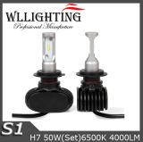 faro automatico dell'automobile LED di 12V H7 con 4000lm