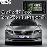 Interfaz video GPS de la navegación androide del GPS para Skoda magnífico