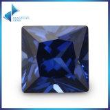 대량 인기 상품 가격 1mm-10mm 34# 파란 정연한 합성 강옥 Ruby 느슨한 원석