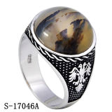 Anelli d'argento degli uomini dei monili dell'anello 925 dell'uomo con la pietra naturale