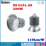 Prezzo di fabbrica del fornitore dell'oro della Cina 110lm/W 5 anni di alto indicatore luminoso della baia LED della garanzia 200W
