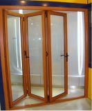 Алюминиевая стеклянная дверь складчатости/складывая окно
