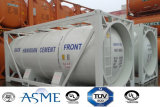 23000L 20FT Het Koolstofstaal van uitstekende kwaliteit 4 de Container van de Tank van het Cement van de Druk van de Staaf