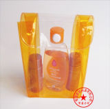 Sachet en plastique transparent de PVC de soudure à chaud pour les produits de beauté (YJ-B036)
