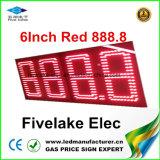 индикация знака изменителя газовой цены 8inch СИД (NL-TT20F-2R-DR-4D-RED)
