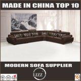 Sofà nero registrabile del cuoio genuino di disegno della mobilia