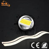 Lampada Pendant di alluminio della lampada moderna ondulata acrilica della lega LED