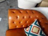 Sofá do couro da mobília do sofá da sala de visitas com o sofá de Chesterfield para o sofá Home