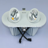 360 MAZORCA doble ajustable vendedora caliente LED Downlight de la pista 2*9W del grado