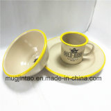 Tazón de fuente del platillo de la taza del esmalte de los utensilios de cocina