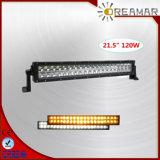 barre ambre ambre/blanche de double couleur de 21.5inch 120W 3060lm d'éclairage LED